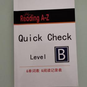 RAZ Reading A-Z Level B, Quick Check, Level B 单词表,阅读记录表