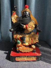 清代老木雕造像将军神像佛像神仙判官文官将军财神七大巡