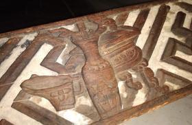 老木雕 花板