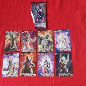 超宇宙 奥特英雄 X档案共8张(闪卡)1张
