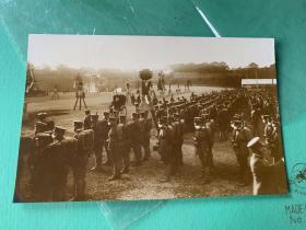 4215A:戴口罩排队时所拍摄的军人照片,妥妥的侵华史料