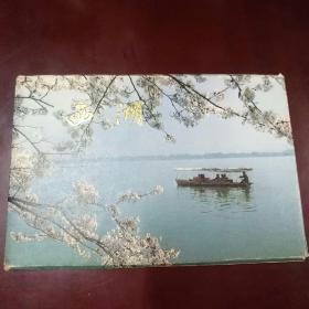 西湖明信片1套10张,85品