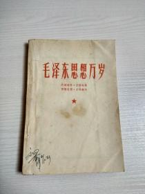 毛泽东思想万岁(扉页毛主席木板头像)