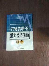 安徽省若干重大经济问题研究