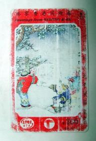 早期旧电话卡:1994年 北京香港同迎春 200面值卡 (品相差)