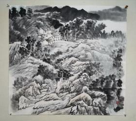 张复兴山水画,(带原画出版画册集)