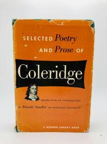Selected Poetry and Prose of Coleridge. Edited, with an Introduction by Donald Stauffer of Princeton University. A Modern Library Book. 英文原版-《柯勒律治诗歌散文精选》(由普林斯顿大学的唐纳德·斯塔夫编辑、作序,现代文库出版)