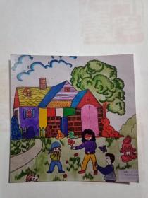 儿童画《幸福之家》的照片