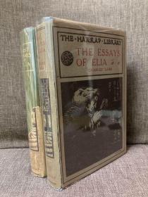 The Essays and Last Essays of Elia(兰姆《伊利亚随笔初辑与续辑》两卷全,带注释,毛边未全部裁开,难得带护封,1928年老版书)