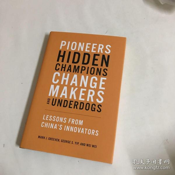 Pioneers, Hidden Champions, Changemakers, and Underdogs:Lessons from China's Innovators