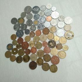 外国硬币72枚合售,非常漂亮!