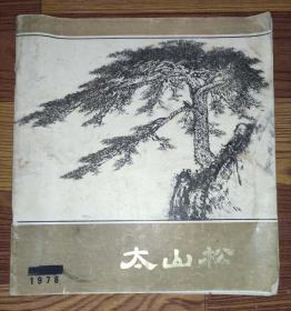 太山松(泰山松)山东画家杨耀.解维础.徐思民对泰山松的专题写生 12开黑白图 1978年