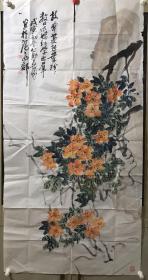 王个簃之子 海派大家王公助 花卉大幅约8平尺