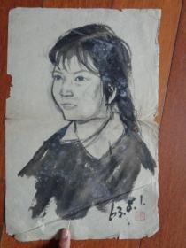 单克伦1963年的人物写生画