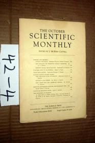 SCIENTIFIC MONTHLY 科学月刊1934年10月  多图片
