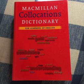 Macmillan Collocation Dictionary 麦克米伦英语搭配词典