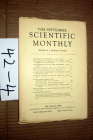 SCIENTIFIC MONTHLY 科学月刊1934年9月  多图片