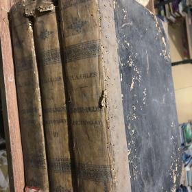 民国时期(中英词典)超大超厚三册,