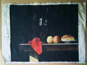 GootoNa 款《静物》布面旧油画 52x62cm 85品【作者不详】(见描述)