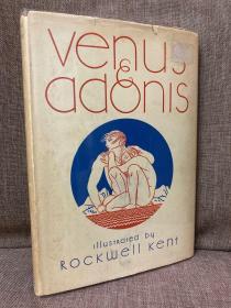Venus and Adonis(莎士比亚《维纳斯与阿多尼斯》,Rockwell Kent插图,布面精装毛边本,难得带护封,1934年美国初版)