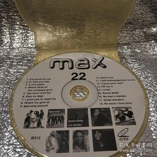 《max 22》裸碟CD 音乐光碟