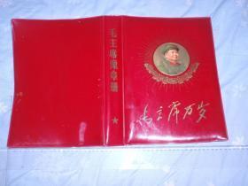 毛主席像章册(大本)【仅存硬红塑皮封面】 L9
