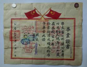 1950年百年名校证书