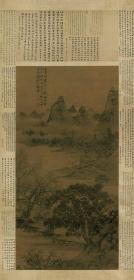 明  谢时臣-苏堤联骠图。纸本大小77.1*160.9厘米。宣纸原色微喷印制。按需印制不支持退货