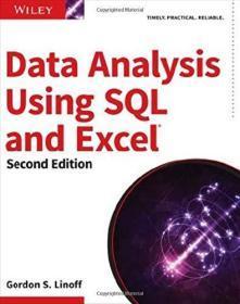 Data Analysis Using SQL and Excel 英文原版 Gordon S. Linoff 数据分析技术 第2版 使用SQL和Excel工具