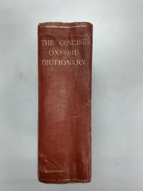 英文版The concise Oxford Dictionary of current English New edition牛津简明英语词典 第二版(第2版)民国时期印刷出版 second edition