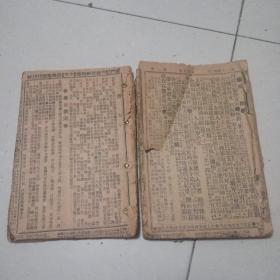 京话日报 民国早期原版合订两册 如图