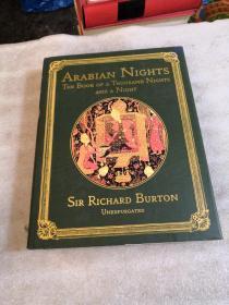 Arabian Nights the book of a thousand nights and a night【精装大16开 三面刷金】