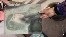 油画一幅;人物画女人2