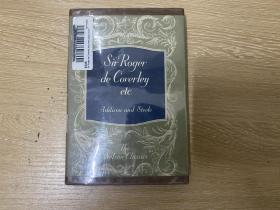 """(特价3天)Sir Roger De Coverley and Other Essays from The Spectator 艾迪生《旁观者》文选,约翰逊博士说""""亲切而不鄙俚,典雅而不炫耀,值得讲究英文风格之士日夜读之。""""精装老版书"""