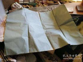 故纸,纸文化,花笺纸文化:空白 清代老纸一叠5张,淡蓝色,特大尺寸4尺整张。