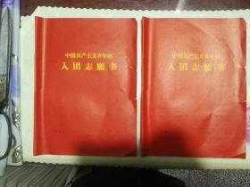 入团志愿书(空白)两张合售