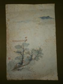 朵云轩木版水印:笺纸~李秋君高士图(张大千义妹)