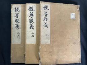日本長光寺藏抄本《親尊服義》3冊6卷全,佚名著,古代禮儀服飾類,分正親服義、旁親服義、外親服義、君臣服義等卷,國內未見公藏著錄