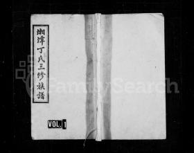 丁氏族谱 [10卷] 复印件