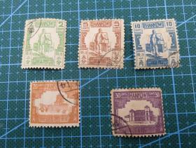 1896年清朝汉口商埠第五次普通邮票--5枚全套--邮票