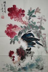 中国中央电视台节目主持人董卿作品,画的不错