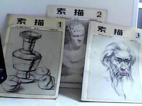 素描(1)(2)(3)少年儿童美术技法丛书 【代售】