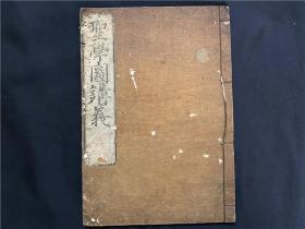 康熙48年和刻本《圣學圖講義》1冊全,江戶時期儒學者絅齋先生理學講義,寶永己丑年由其門人輯錄出版。