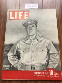 【现货在美国家中、2周左右到国内、全国包顺丰】1945年9月17日《生活》杂志,封面美军