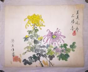癸亥年花卉老画一幅,61*48,成本卖了