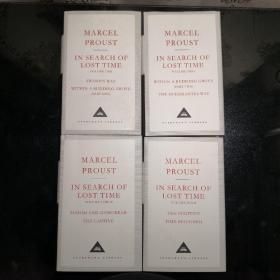 In Search Of Lost Time (4 Volumes) 追忆似水年华 四本合售 Proust, Marcel 马塞尔·普鲁斯特 everyman's library 人人文库 布面封皮琐线装订 丝带标记 内页无酸纸可以保存几百年不泛黄