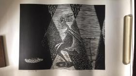 李蓓版画【49厘米X38厘米】....98