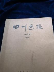 四川画报 1985 全年1-6期  合订本 品好