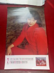 怀旧收藏年挂历单张八 九十年代《影视明星 潘虹》76*34CM2