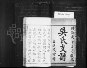(上湘望冲)吴氏支谱 [8卷] 复印件